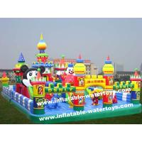 Best Animal World 0.55mm PVC Tarpaulin Kids Inflatable Fun City Amusement Park Disney Land wholesale