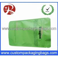 Quality Green PET / AL / PE Aluminium Foil Ziplock Coffee Bag Packaging with Stand up for sale