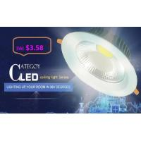 Quality COB LED Down Light with Epistar LED Isolated IC constant driver 3W/5W/7W/12W/15W CE RoHs for sale