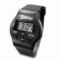Quality Multifunctional LCD Talking Wristwatch with Alarm and Hourly Report Functions for sale