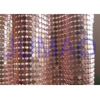 Quality 4 Mm Rose Gold Metal Mesh Fabric, Ring Connection Aluminum Brass Mesh Fabric for sale