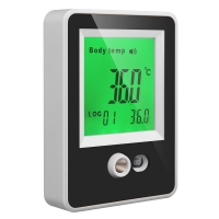Quality Black White Shopmall Non Contact Wall Mounted Thermal Scanner for sale