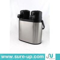 Quality coupled stainless steel vacuum air pot with glass liner for sale