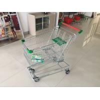 Supermarket Shopping Trolley Wire with 4 swivel escalator casters For Grocery Market 125 L