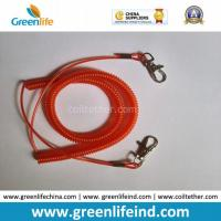 Quality Transparent Red Vinyl Coated Steel Coil Tether Leash Safety Rope for sale
