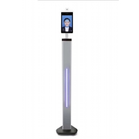Quality 8 Inch AI Face Recognition Body Floor Standing Temperature Scanner for sale