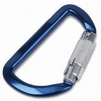 Quality Aluminum Carabiner with Triple Auto Lock Feature for sale