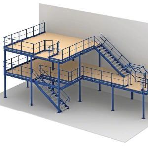 Quality Storing Home  Pallet Racking Mezzanine Floors Plastic Warehouse Storage Portable for sale