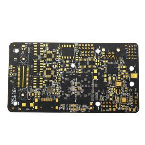"""Quality Rigid Fast Turn Black Soldermask PCB 1.55mm Hard Gold Finger 30u"""" 6 Layer for sale"""