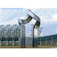 Quality Large Art Modern Stainless Steel Sculpture , Outdoor Steel Sculpture Decoration for sale