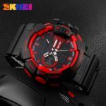 Men Big Dial Analog Digital Wrist Watch With Alarm Waterproof