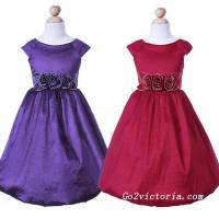 China Wholesale taffeta flower girl dress ( 3009) on sale