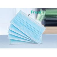 Quality Adult Non Woven Disposable Face Mask Blue Ear Loop For Daily Protection for sale