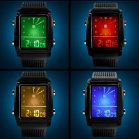 Quality Dual Time Analog Digital Wrist Watch For Mens LCA Movement for sale