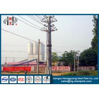 Quality Zinc Coated 69 KV Transmission Line Tubular Steel Poles With ISO Certificate for sale