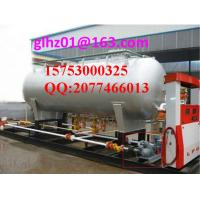 Quality 10000L LPG storage tank, 10m3 LPG skid filling station, Double nozzle dispenser 10CBM LPG skid station for sale