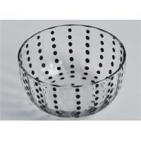 Colored Round Glass Candle Holder / Glass Candle Bowls Recyclable