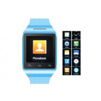"Best 1.54"" Blue GSM Mobile Watch Phone , Multi-languages Cell Phone Watch wholesale"