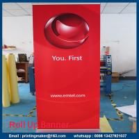 Quality Retractable Standard Roll Up Banner Stand With Banner for sale
