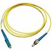 Best ST to SC Simplex Singlemode 9 / 125 μm Fiber Optic Patch Cord in Yellow PVC Jacket wholesale