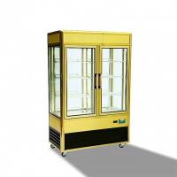 China 828L Aluminium Frame Refrigerated Cake Display Cabinets With Folding Door on sale