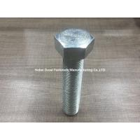 Buy cheap Grade 8.8 Galvanized Hex Bolts Din 933 Stainless Steel / Carbon Steel Plain from wholesalers