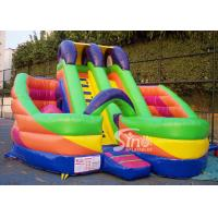 China 6x6m millenmium kids inflatable slide with obstacles N tunnel for outdoor parties on sale