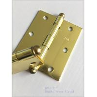 Quality High Lights Ball Head Heavy Duty Door Hinges , Cabinet Door Hinges Bright Color for sale
