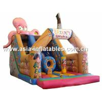 China Customized Inflatable Slide In Pirate Ship And Octops Shape For Kids on sale