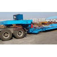Quality 3 Line 6 Axle Front Loading Low Bed Trailer , Gooseneck Hydraulic Detach Lowboy Trailer for sale