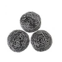 Non Toxic Material Stainless Steel Scrubbers , Long Lifetime Scouring Pad Safe For Stainless Steel