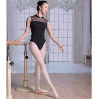 Best High Neck Low Back Sleeveless Mesh wholesale leotards wholesale