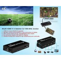 Quality  Switch 3x1 Support 4Kx2K With MHL function and 5.1/2.1 Audio Channel for sale