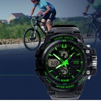 Quality Water Resistant Analog Digital Wrist Watch With Two Time Zone for sale
