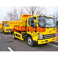 Quality 120hp / 130hp Light Duty Dump Trucks 3 - 5 Tons Load LHD / RHD Steering for sale