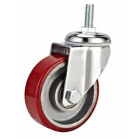 China Iron core PU wheel,75mm,100mm,125mm castor,screw stem caster,Caster manufacturer China on sale