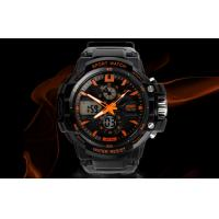 Quality OEM Man Dual Time Zone Analog Digital Wrist Watch With Hourly Chime for sale