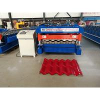 Quality 5.5kw Glazed Tile Forming Machine , High Speed Roof Tile Manufacturing Machine for sale