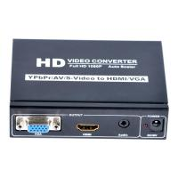 Quality YPBPR+CVBS+S-Video+R/L to HDMI+VGA+Stereo Audio Converters 1080P for sale