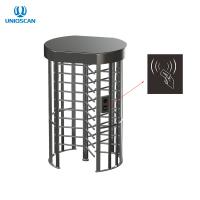 Quality 550mm Single Lane RS485 Arc Stainless Steel Turnstile Gate for sale