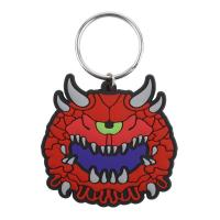 Quality Custom Made Cartoon Design Key Ring, 3D soft Touch PVC Rubber Key Chains for sale