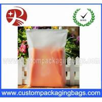 Quality Customized CPE Half Clear Frosted Plastic Ziplock Bags for Cothes Packing for sale