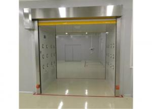 Quality 1.2mm Stainless Steel SUS304/ 201 Air Shower Tunnel With PVC Scroll Doors for sale
