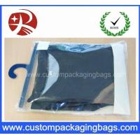 Quality Color Printing Soft Pvc Packaging Bags With Plastic Hanger For Underwear Clothing for sale