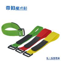 Quality Customized Size Adjustable Hook And Loop Fastener Straps With Plastic Buckle for sale