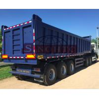 Quality 25 - 35m3 Steel End Dump Trailers,  60 Tons Tipper Semi Trailer 12 / 16 Tyre for sale