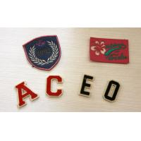 Quality Fancy Artcial Letter Embroidered Name Patches For Kid Garment for sale