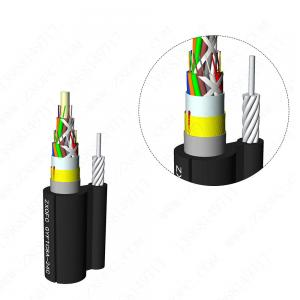Quality GYFTC8A Galvanized Stranded Steel Armored Optic Fiber Cable for sale