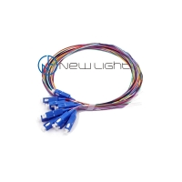 Quality 10G LC ST SC 12core Loose Buffer Multimode Fiber Pigtail for sale
