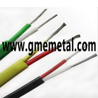 Quality Fiberglass Braided Heat Resistant Electrical Wire , Silicone Rubber Insulated Cable for sale